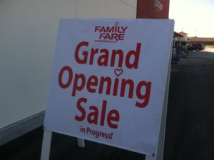 Family Fare Supermarkets Grand Opening celebration