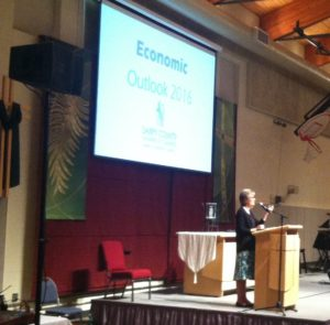 Cathy Lang shares her thoughts at SCCC Economic Outlook
