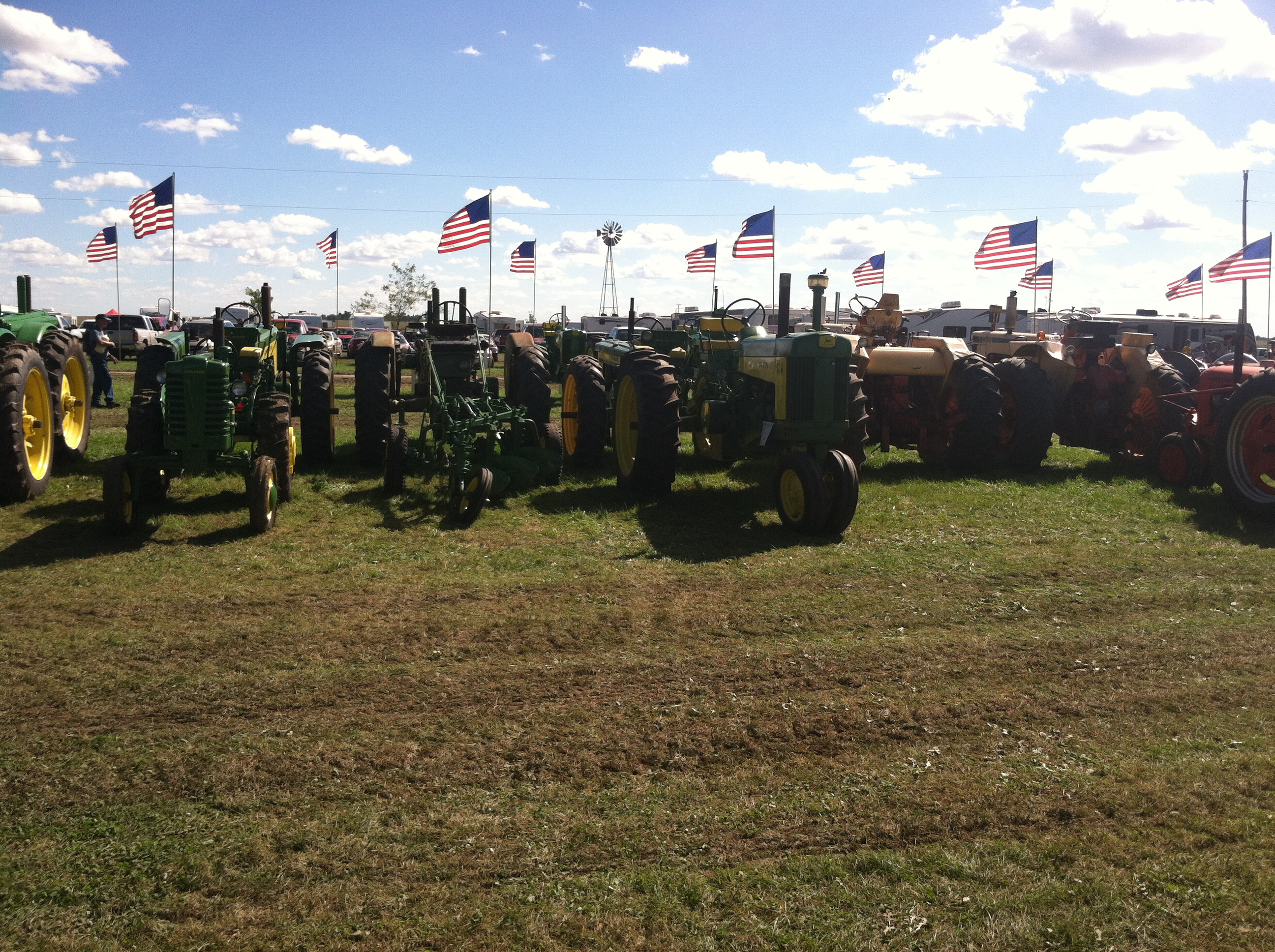 Flags and farm power at Carstens