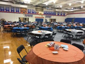 GHS gym before Trivia Night 2017